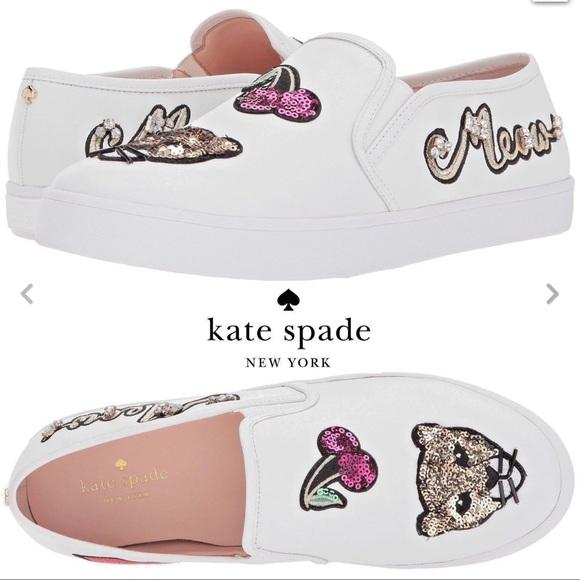 Nib Kate Spade Lizbeth Cat Meow Leather